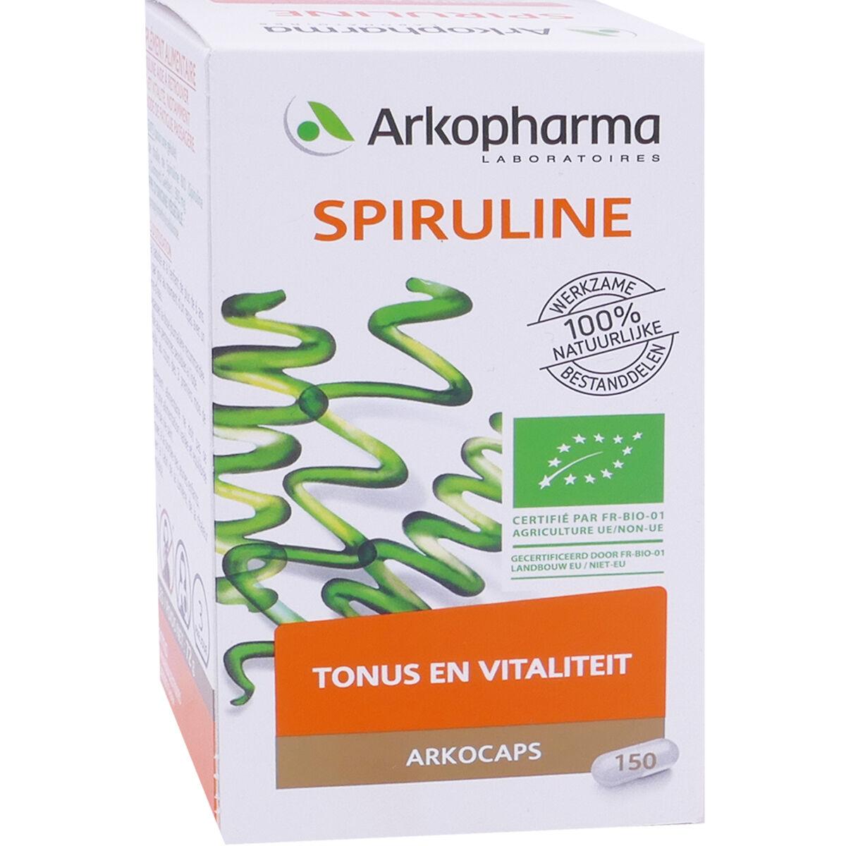 Arkopharma spiruline tonus & vitalite 150 gelules bio
