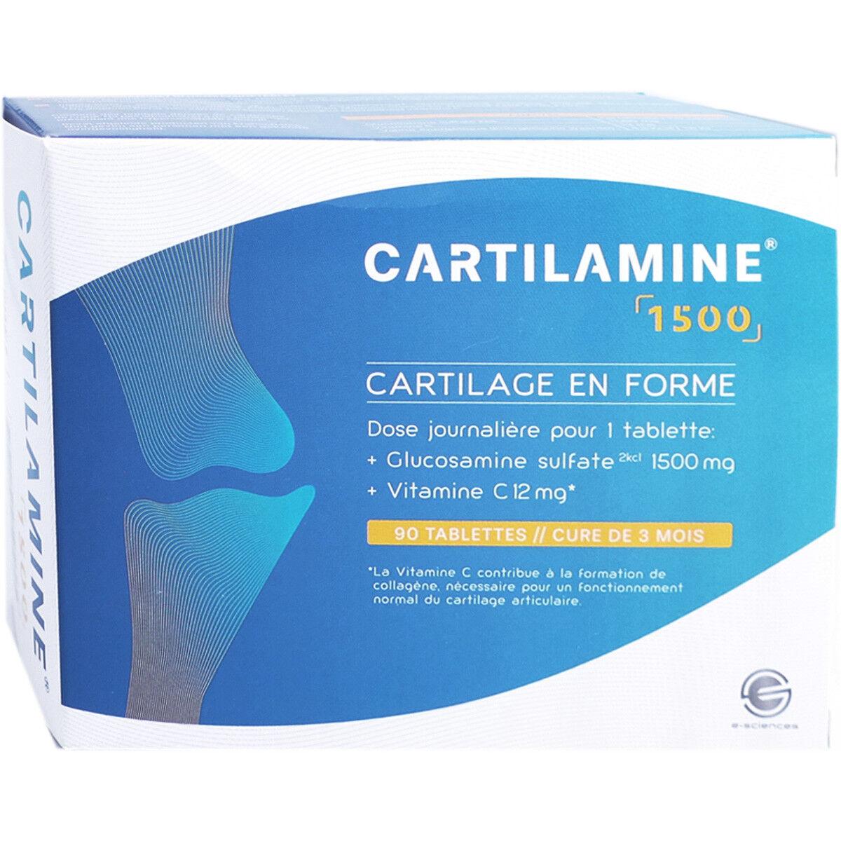 E SCIENCES Cartilamine 1500 - 90 tablettes