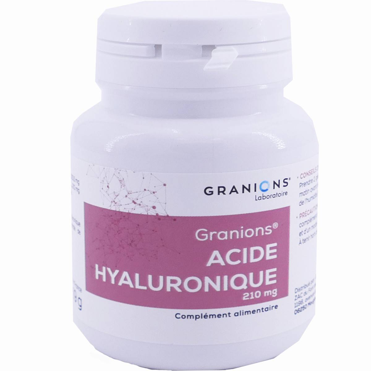 Granions acide hyaluronique 210mg 60 gÉlules vÉgÉtales