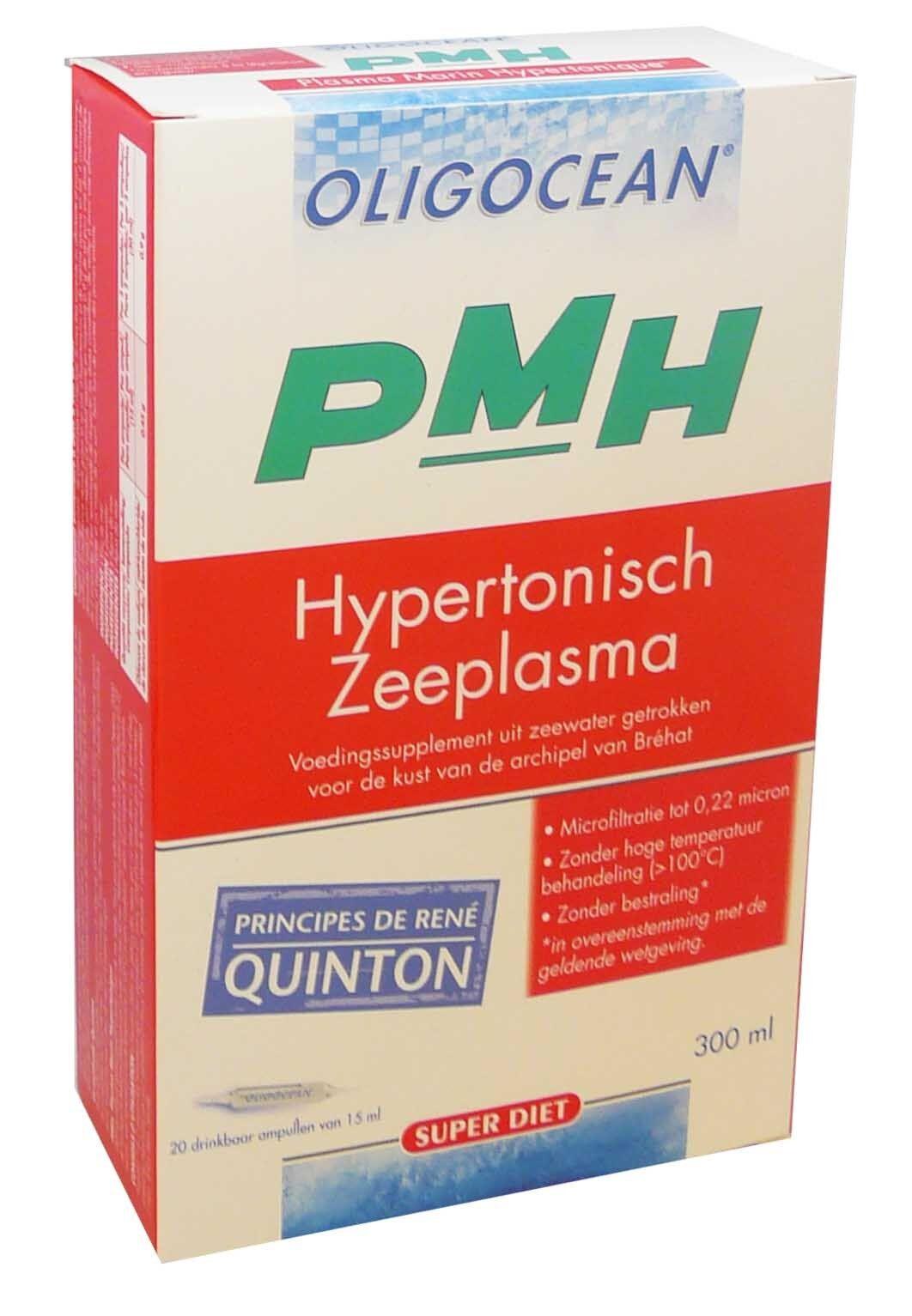 SUPER DIET Oligocean plasma marin hypertonique pmh 20 ampoules de 15ml