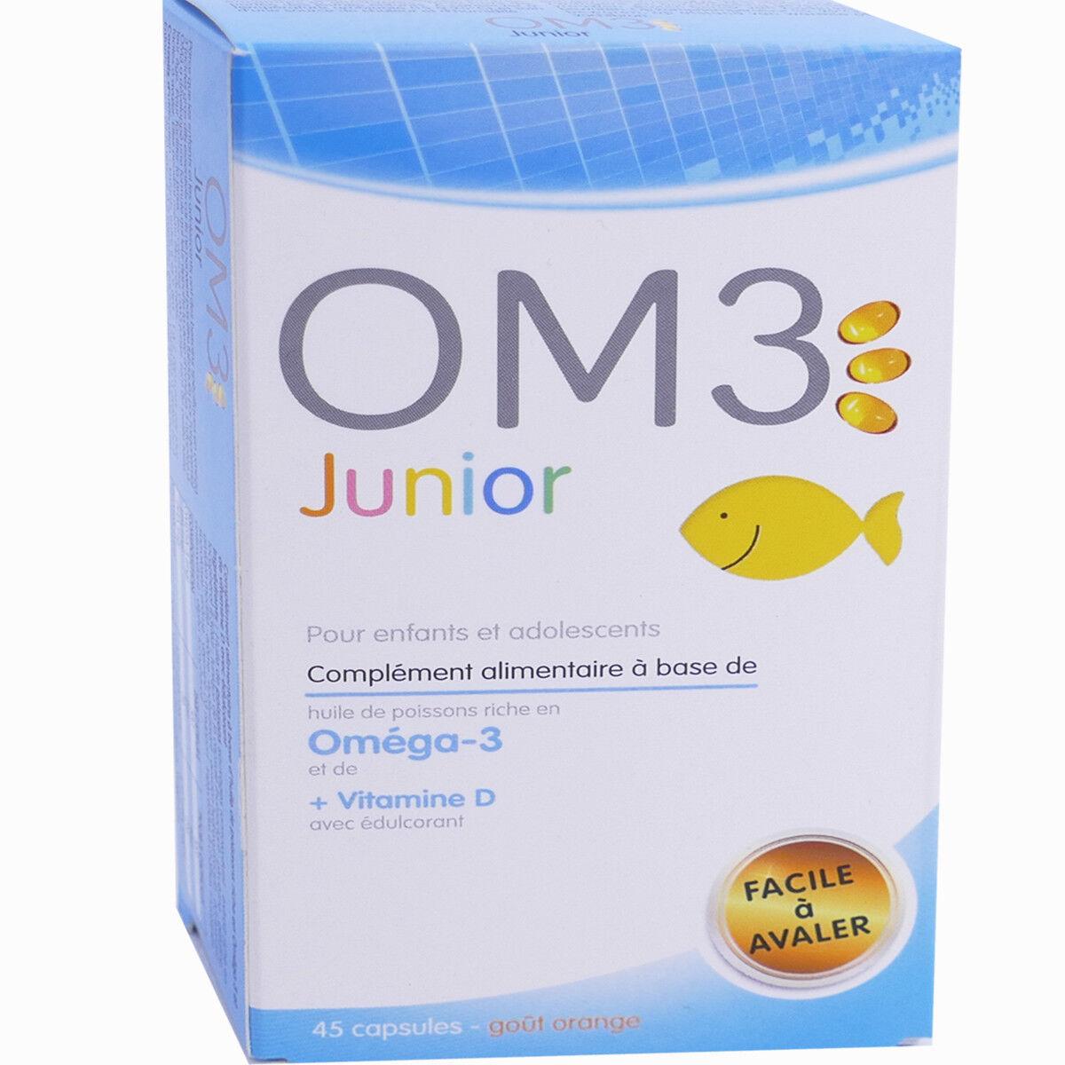 OM3 ISODIS NATURA Om3 junior enfants et adolescents 45 capsules