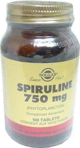 Solgar spiruline 750mg 100 tablets