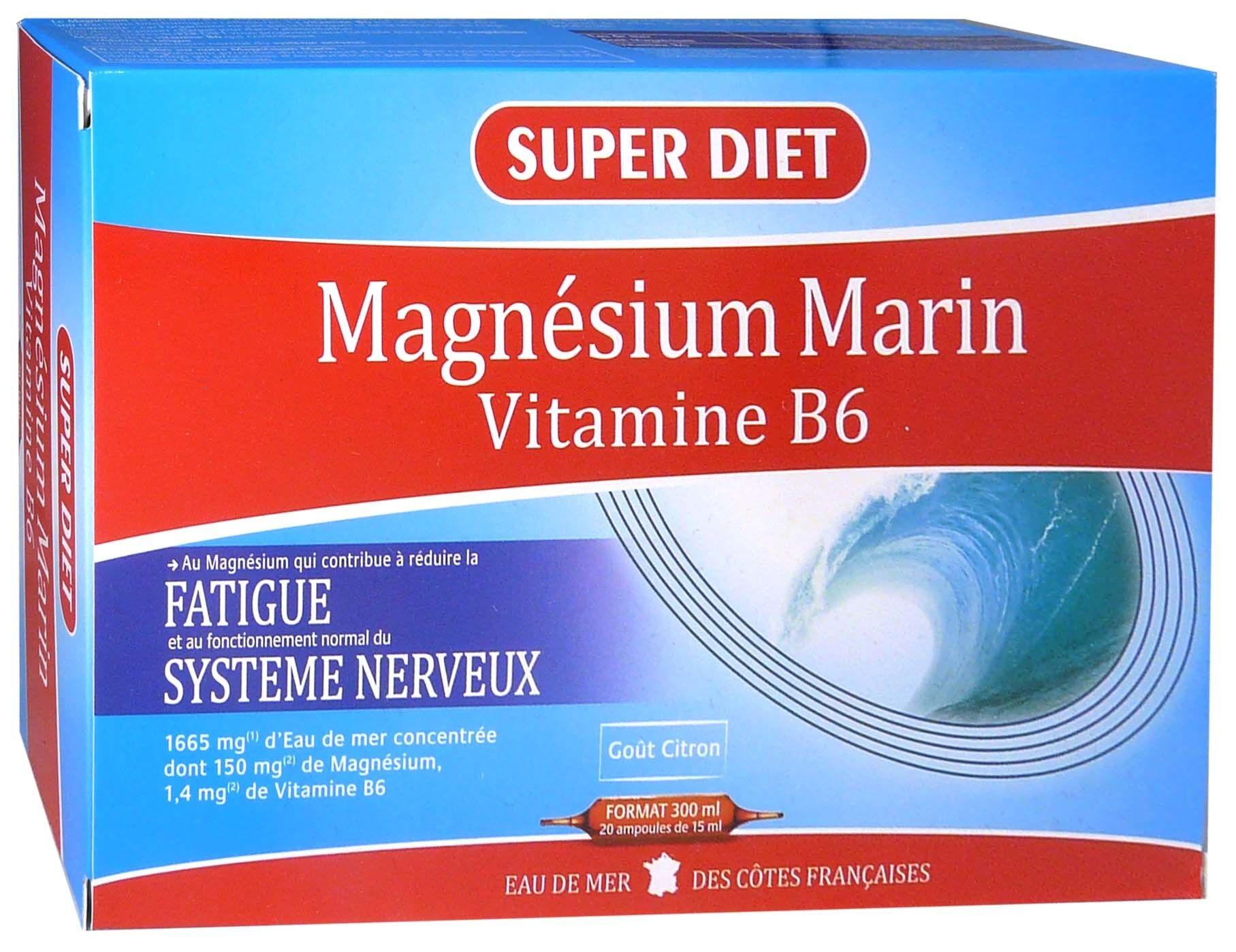 Super diet magnesium marin vitamine b6 20 ampoules