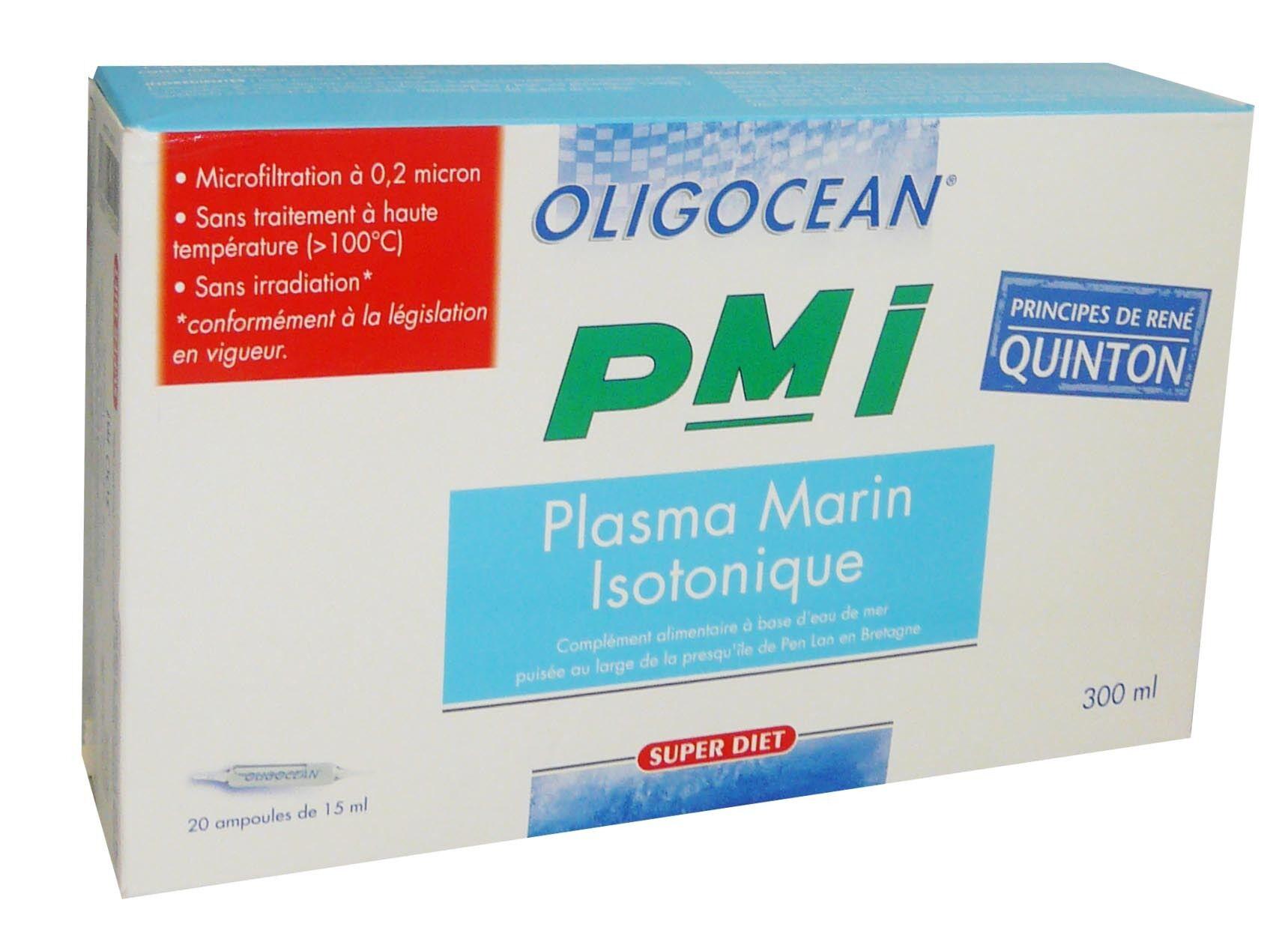 SUPER DIET Oligocean plasma marin isotonique pmi 20 ampoules de 15ml