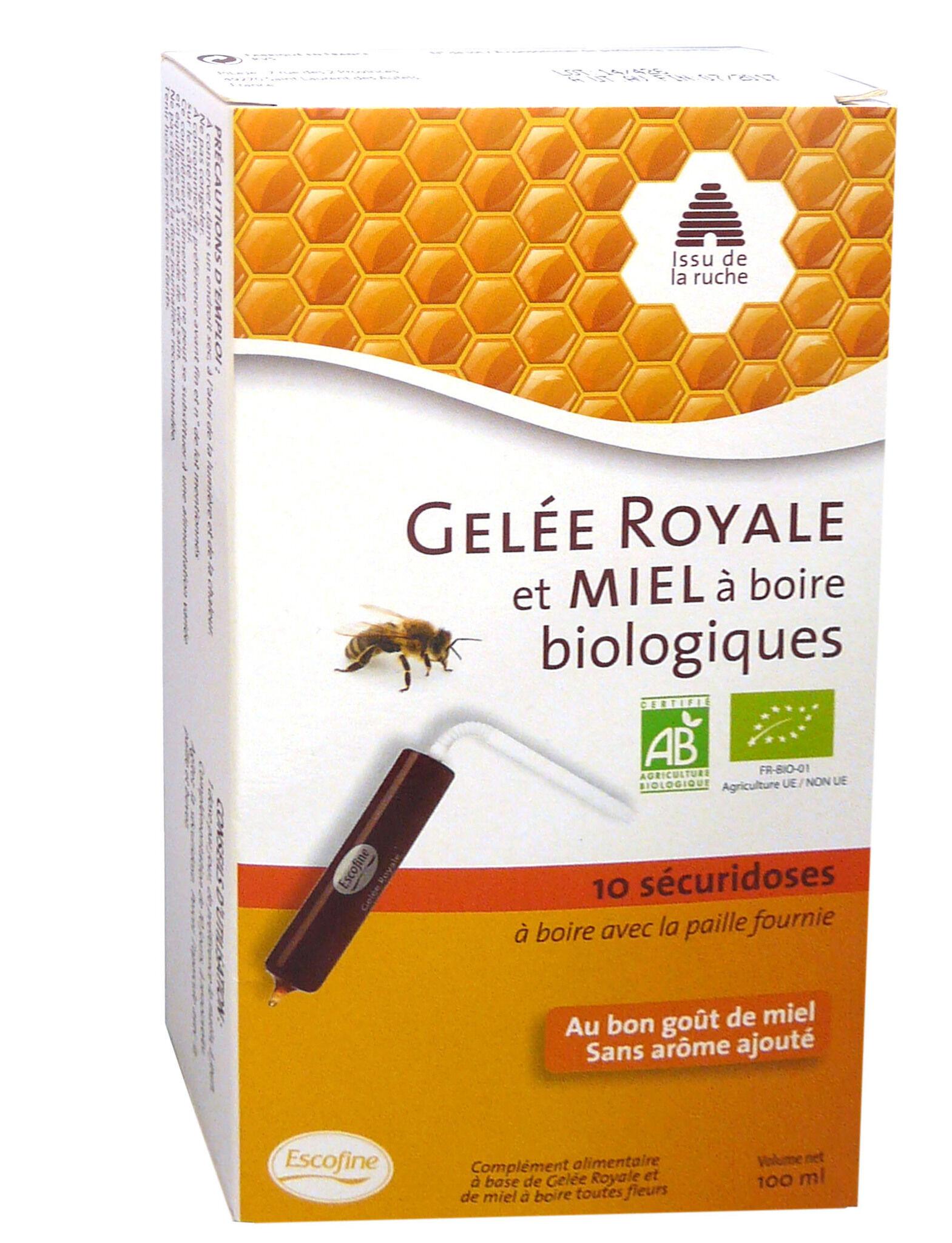 PILEJE Gelee royale et miel a boire biologiques 10 securidoses