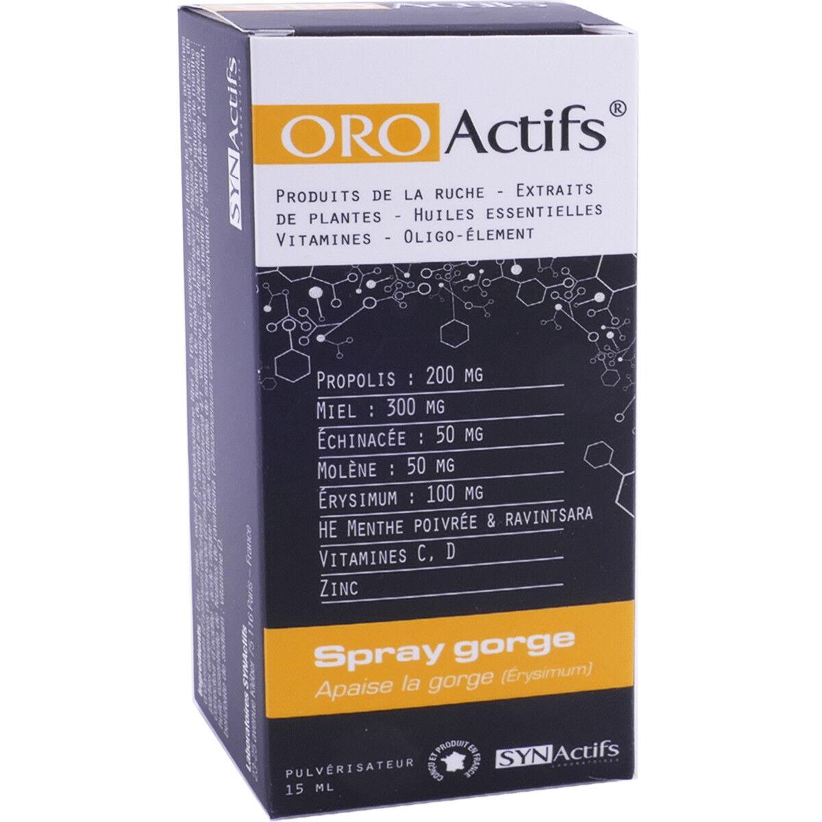 SYNACTIFS Oro actifs spray gorge propolis 15 ml