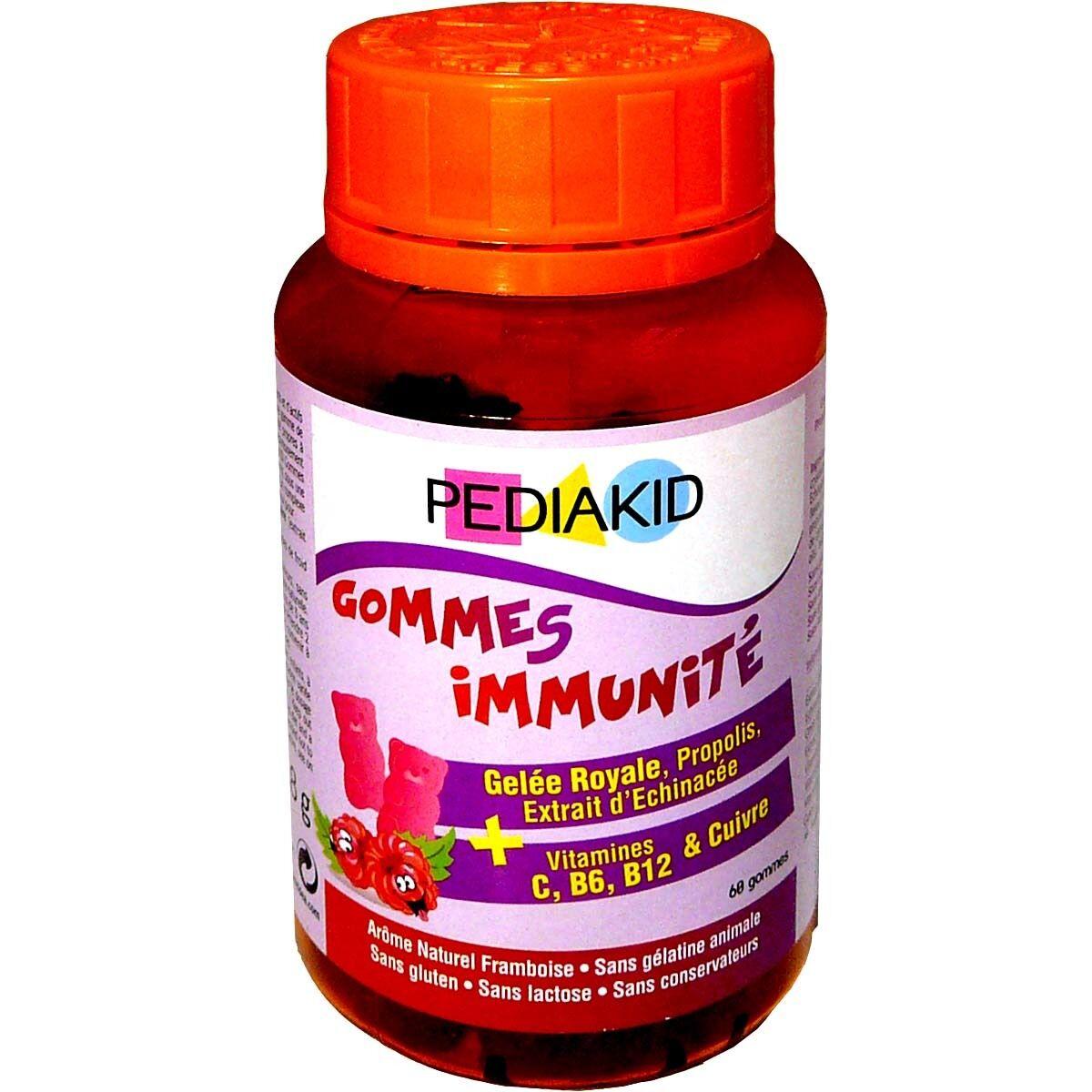 Pediakid 60 gommes immunites gout framboise