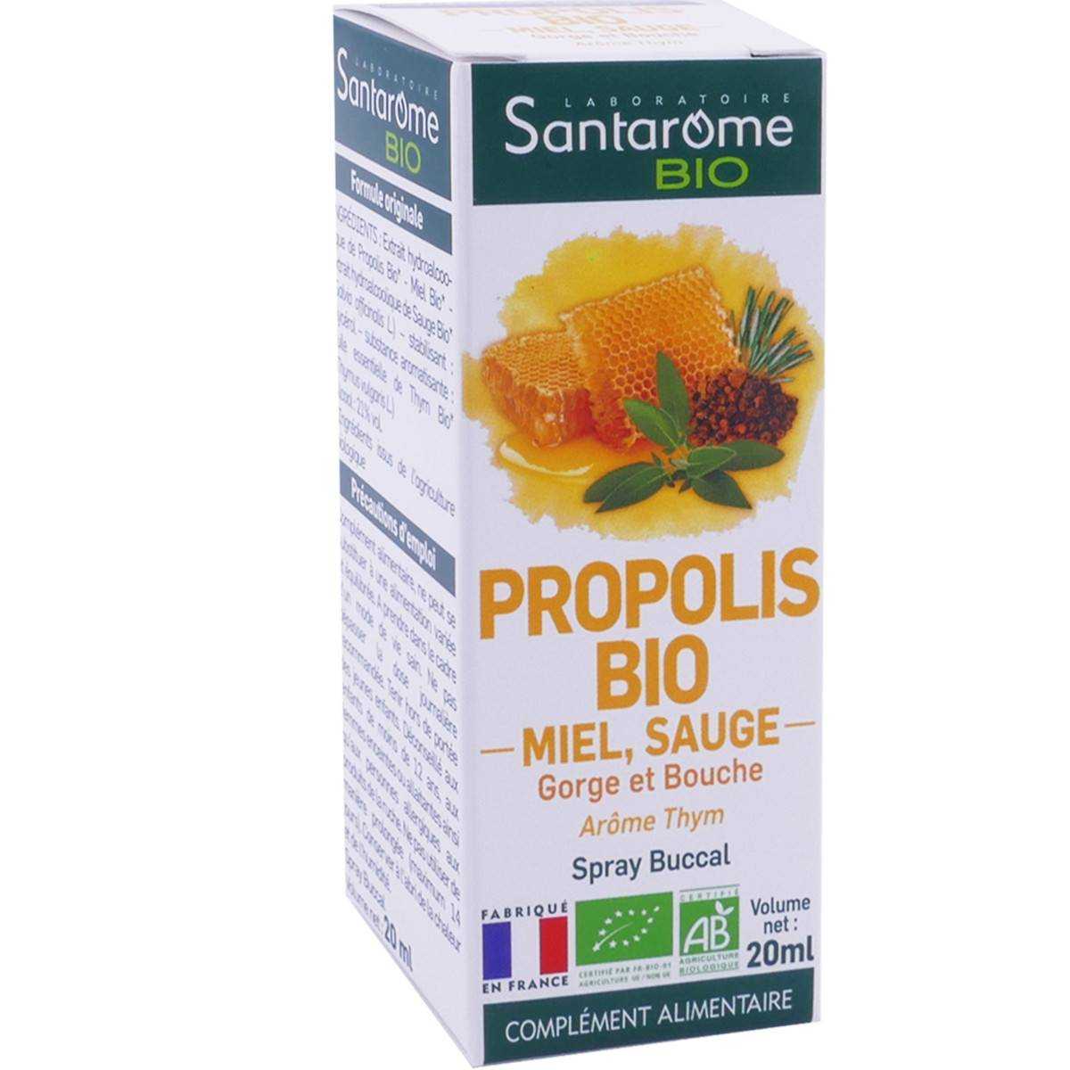 Santarome bio propolis bio miel sauge 20 ml