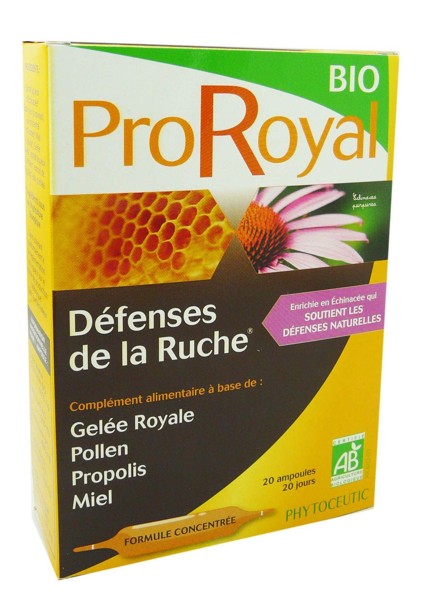 PHYTOCEUTIC Proroyal bio defenses de la ruche 20 ampoules