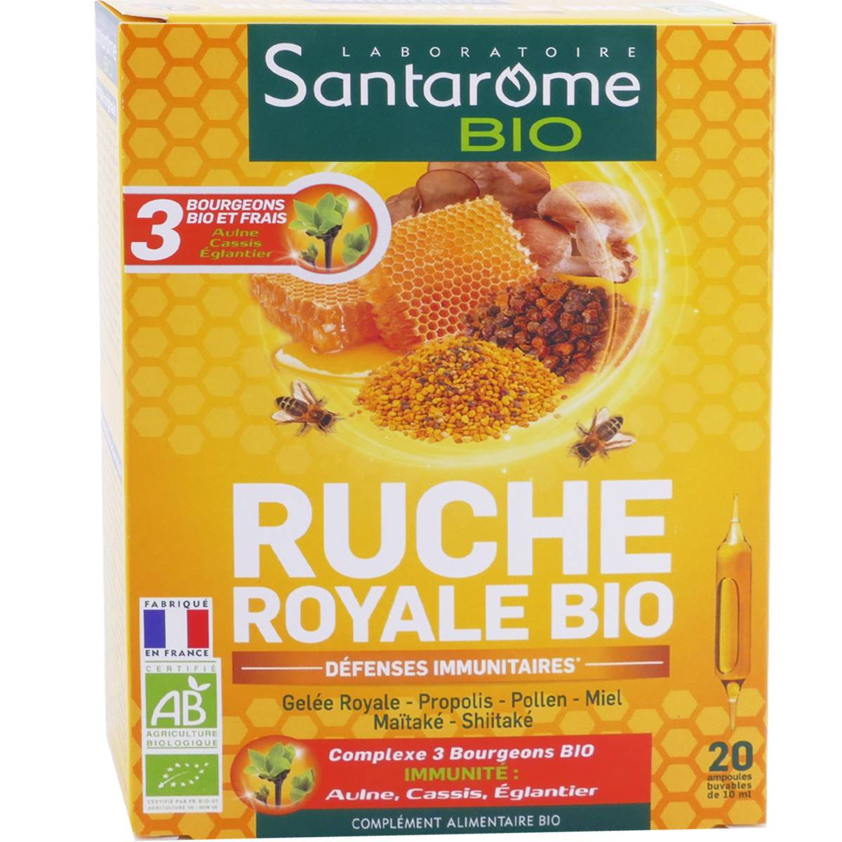 SANTAROME BIO Santarome ruche royal bio 20 ampoules 10 ml