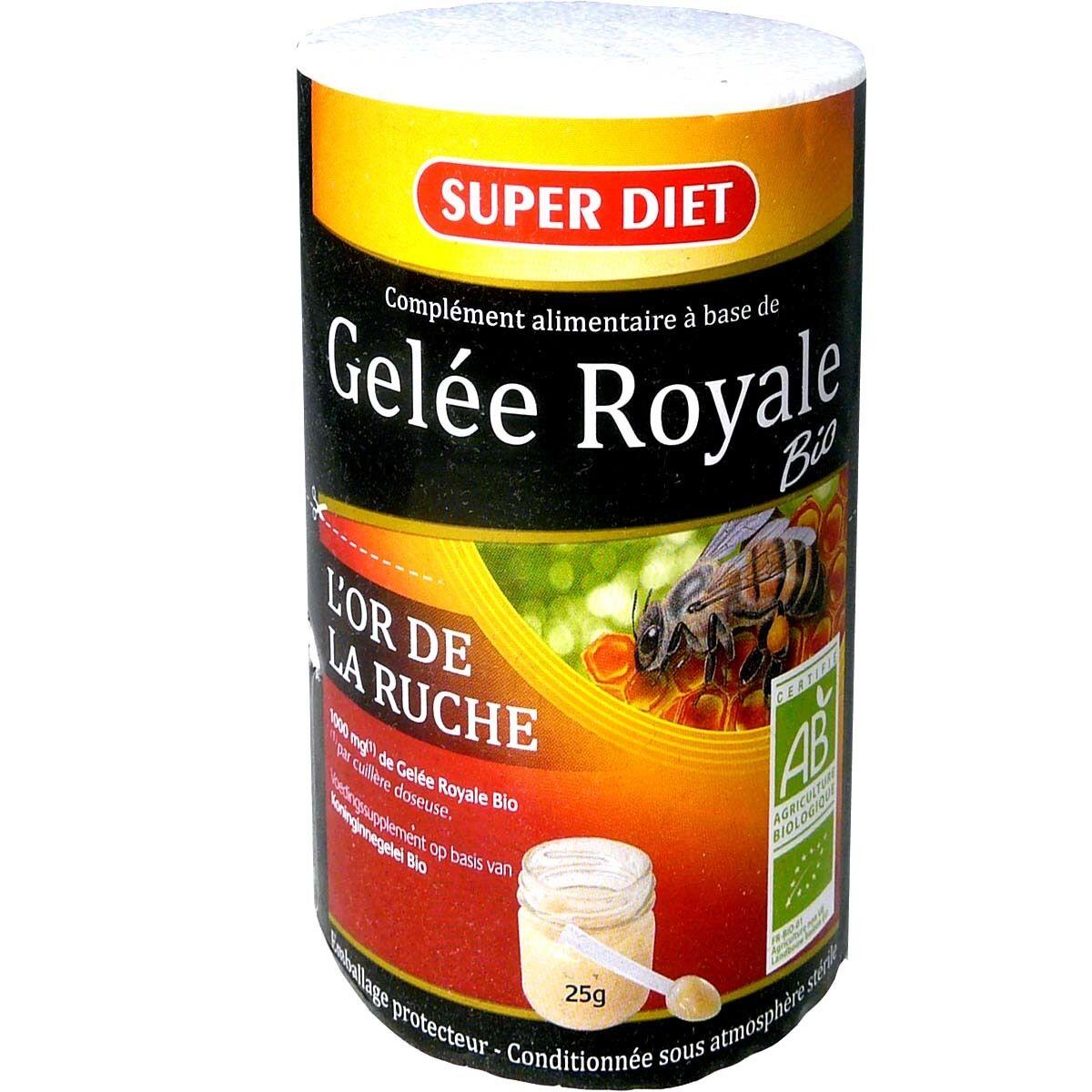 Super diet gelee royale bio l'or de la ruche 25g