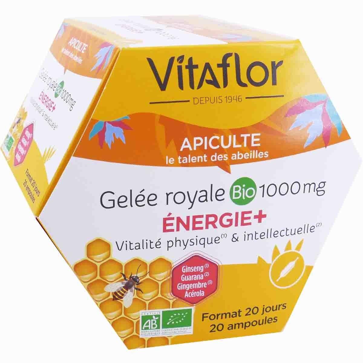 Vitaflor apiculte gelee royale bio 1000mg 20 ampoules 15 ml