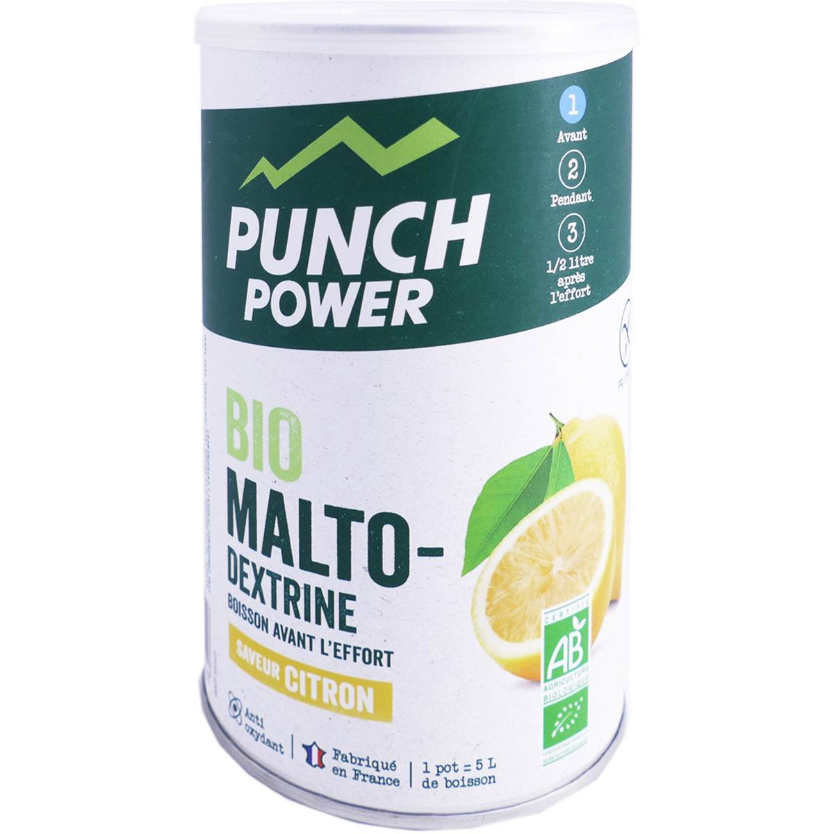 DIVERS Punch power bio boisson avant l'effort saveur citron 400g