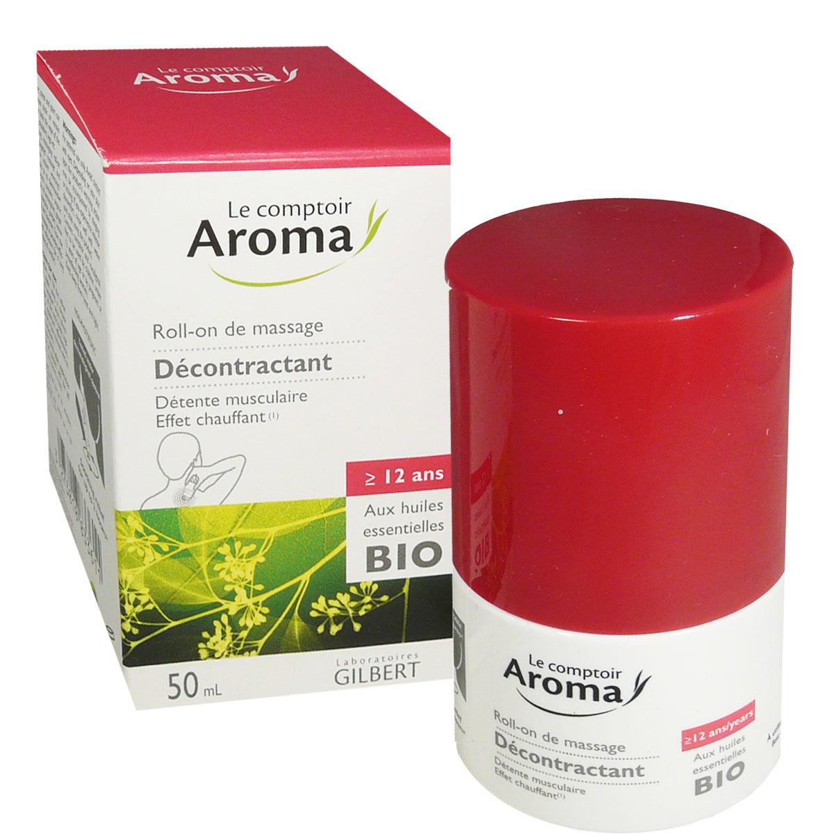 LE COMPTOIR AROMA Aroma decontractant roll on bio 50 ml huiles essentielles