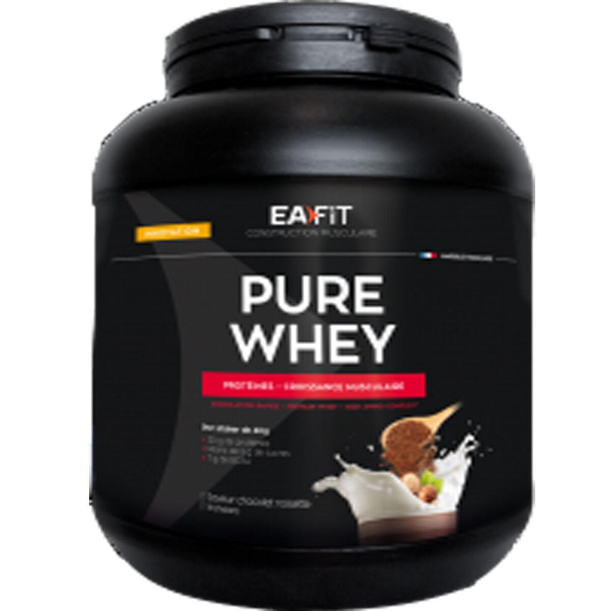 Eafit pure whey saveur chocolat noisette 750 g