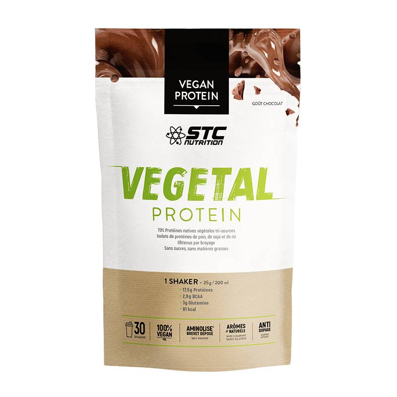 Stc nutrition vegetal protein gout chocolat 750 g