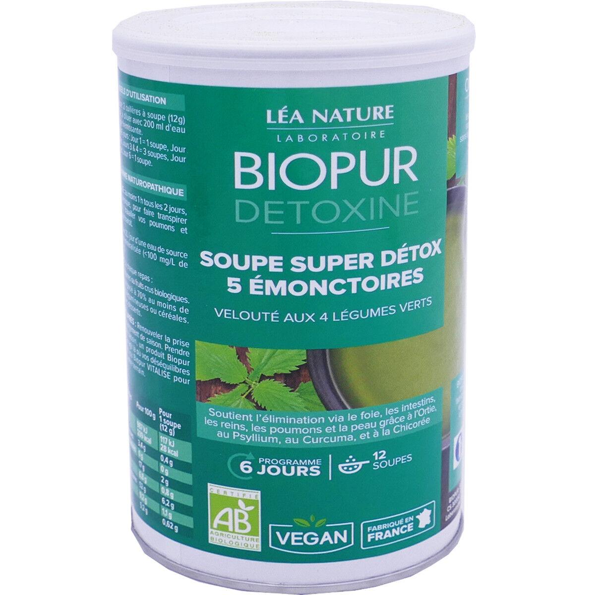 LEA NATURE Biopur detoxine 12 soupes super detox 5 emonctoires 150g bio