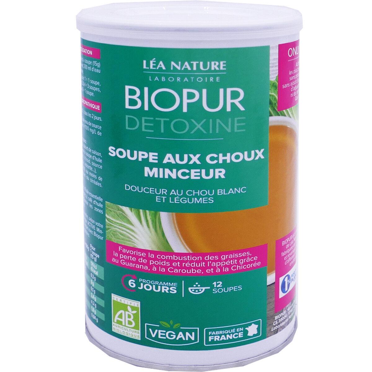LEA NATURE Biopur detoxine 12 soupes aux choux minceur 180 g bio