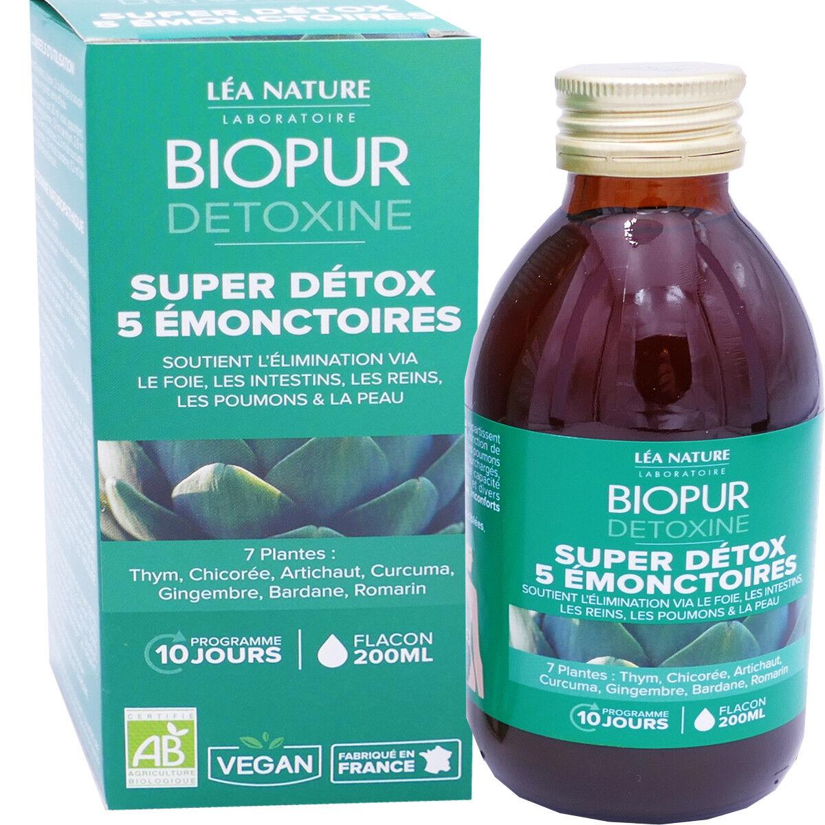 LEA NATURE Biopur super detox 5 emonctoires 200 ml bio