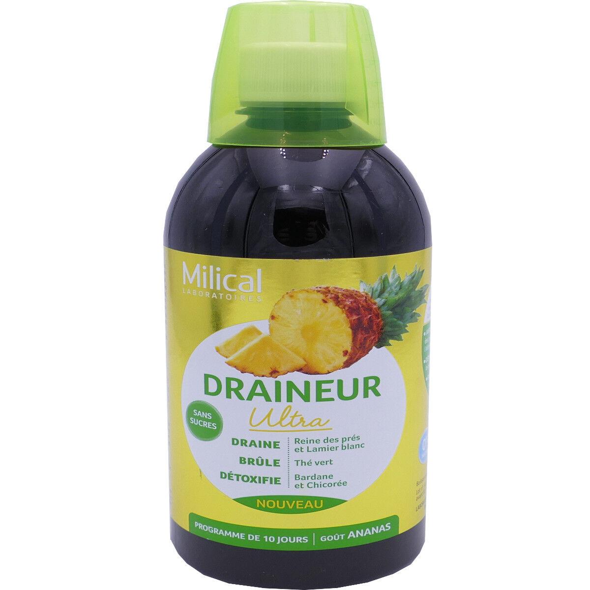 Milical draineur ultra gout ananas 500 ml