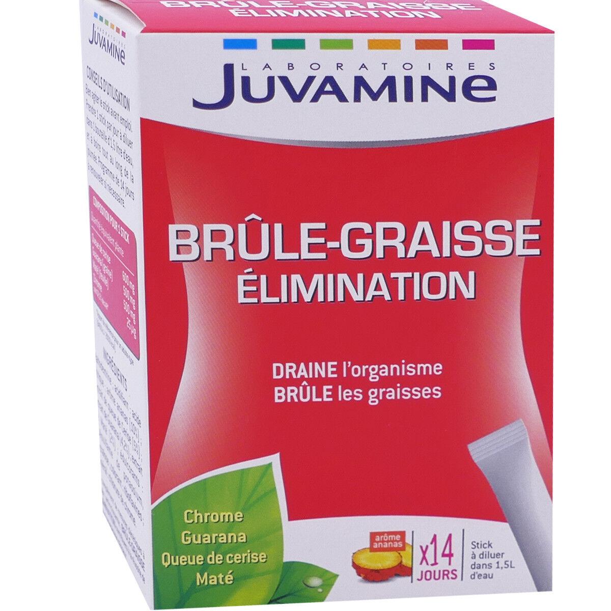 JUVASANTE Juvamine brule graisse elimination 14 stick