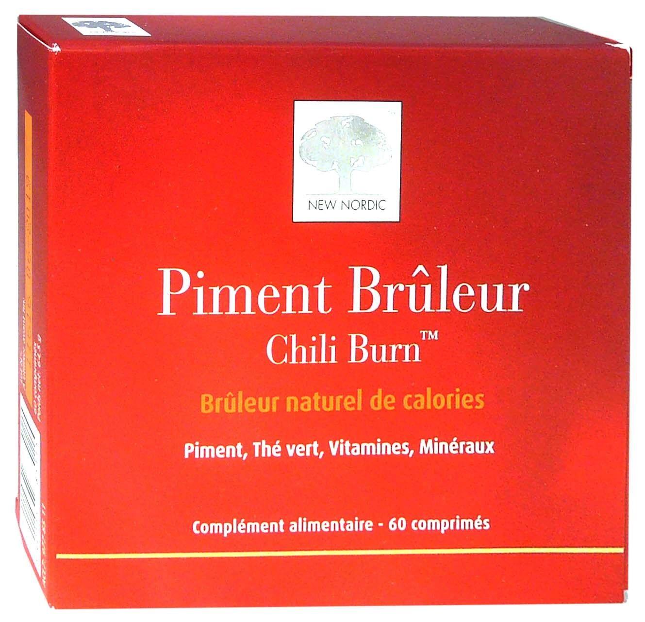 NEW NORDIC Piment bruleur naturel de calories 60 comprimes