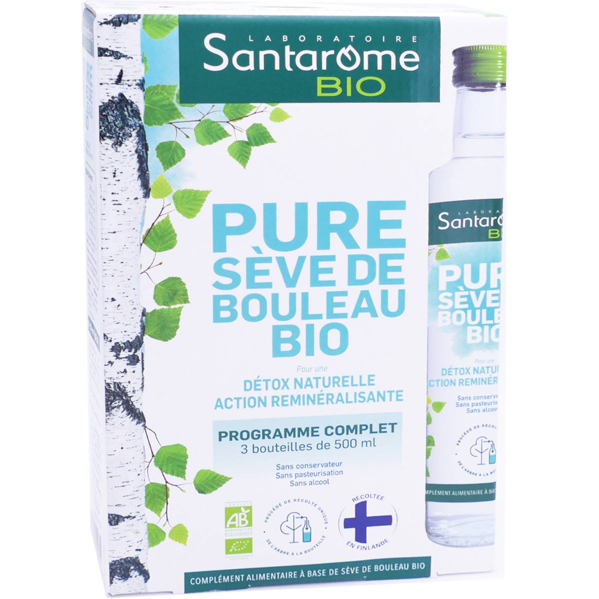 Santarome bio pure sÈve de bouleau 3x500 ml