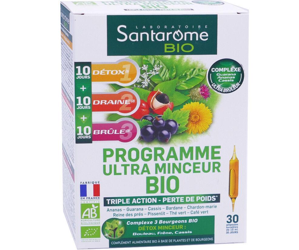 Santarome bio programe ultra minceur bio 30 ampoules 10 ml