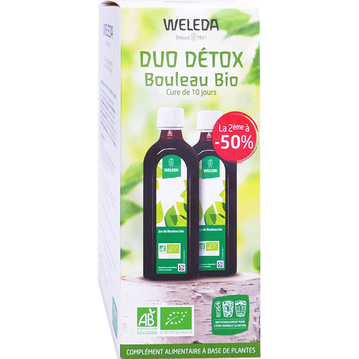 Weleda duo detox bouleau bio 2x 250 ml