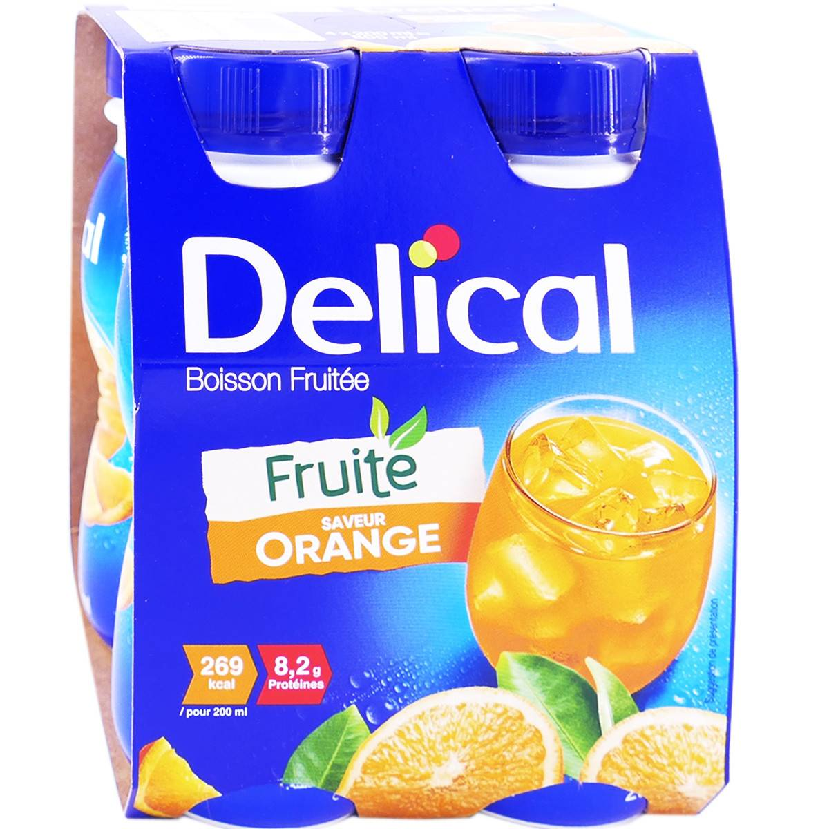 DIVERS Delical boisson fruitee orange 4x200 ml