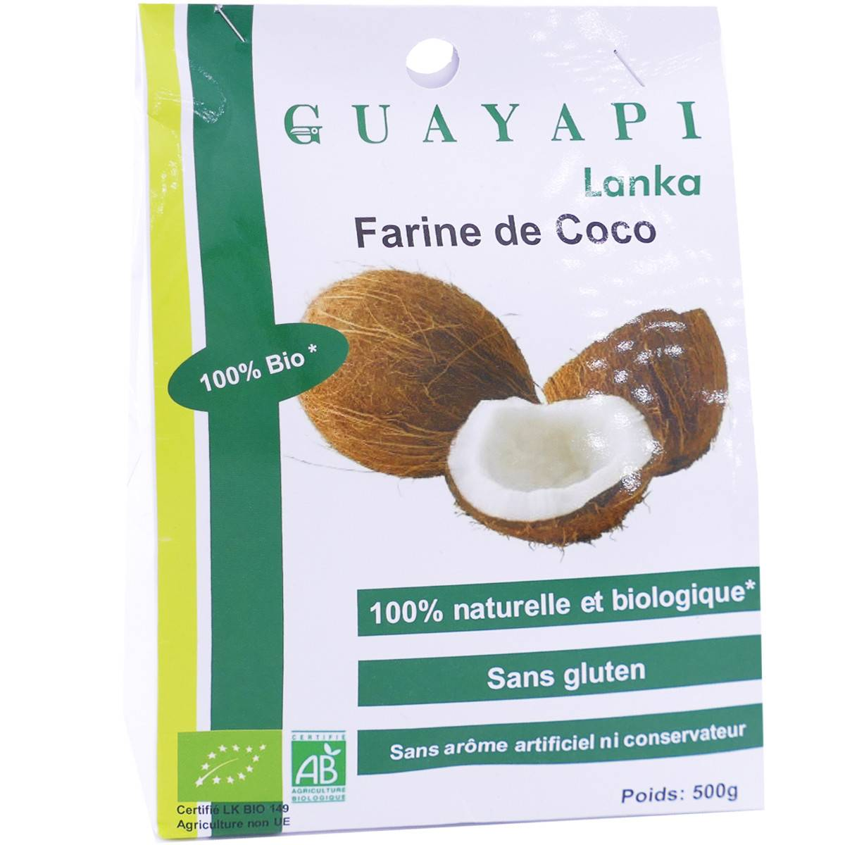Guayapi lanka farine de coco 500 g