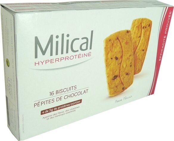 Milical 16 biscuits saveur pepites de chocolat