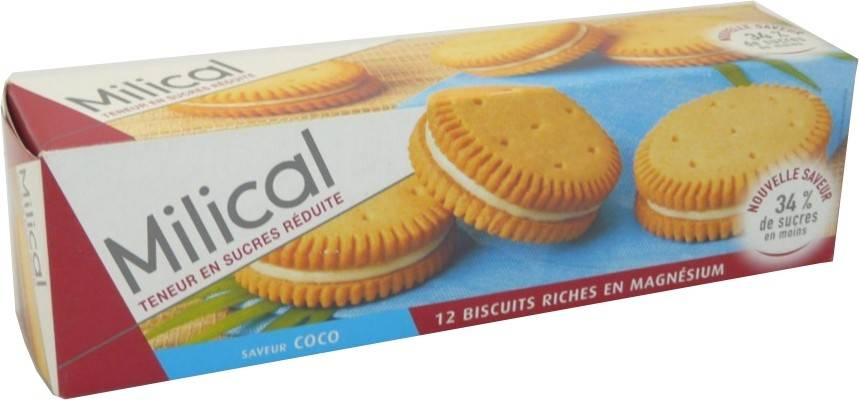 Milical biscuits saveur coco x12