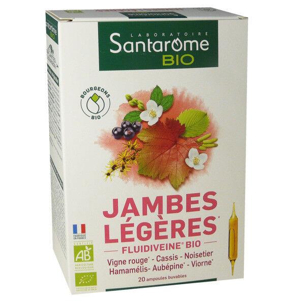 Santarome bio jambes legeres 20 ampoules 10 ml