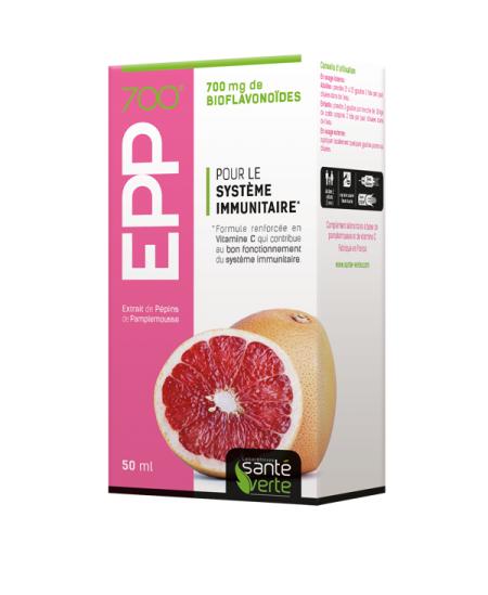SANTE VERTE Epp 700 extrait de pepins de pamplemousse 700mg flacon 50ml