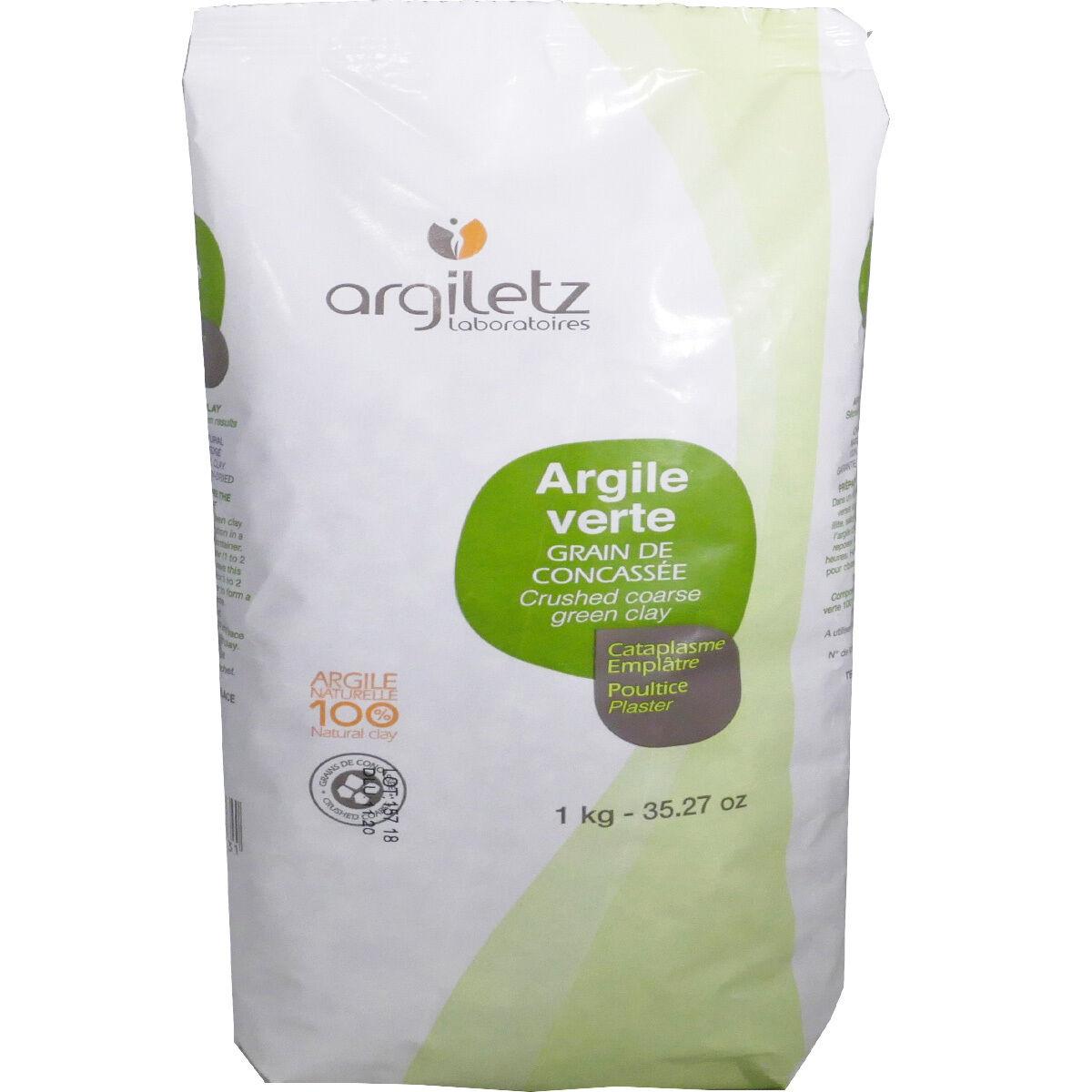 Argiletz argile verte grain de concassee 1kg cataplasme emplatre