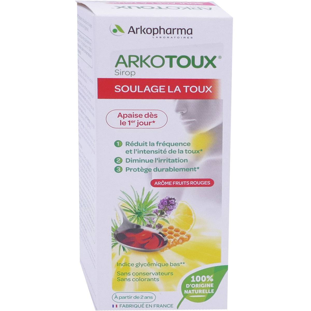Arkopharma arkotoux sirop soulage la  toux 140 ml