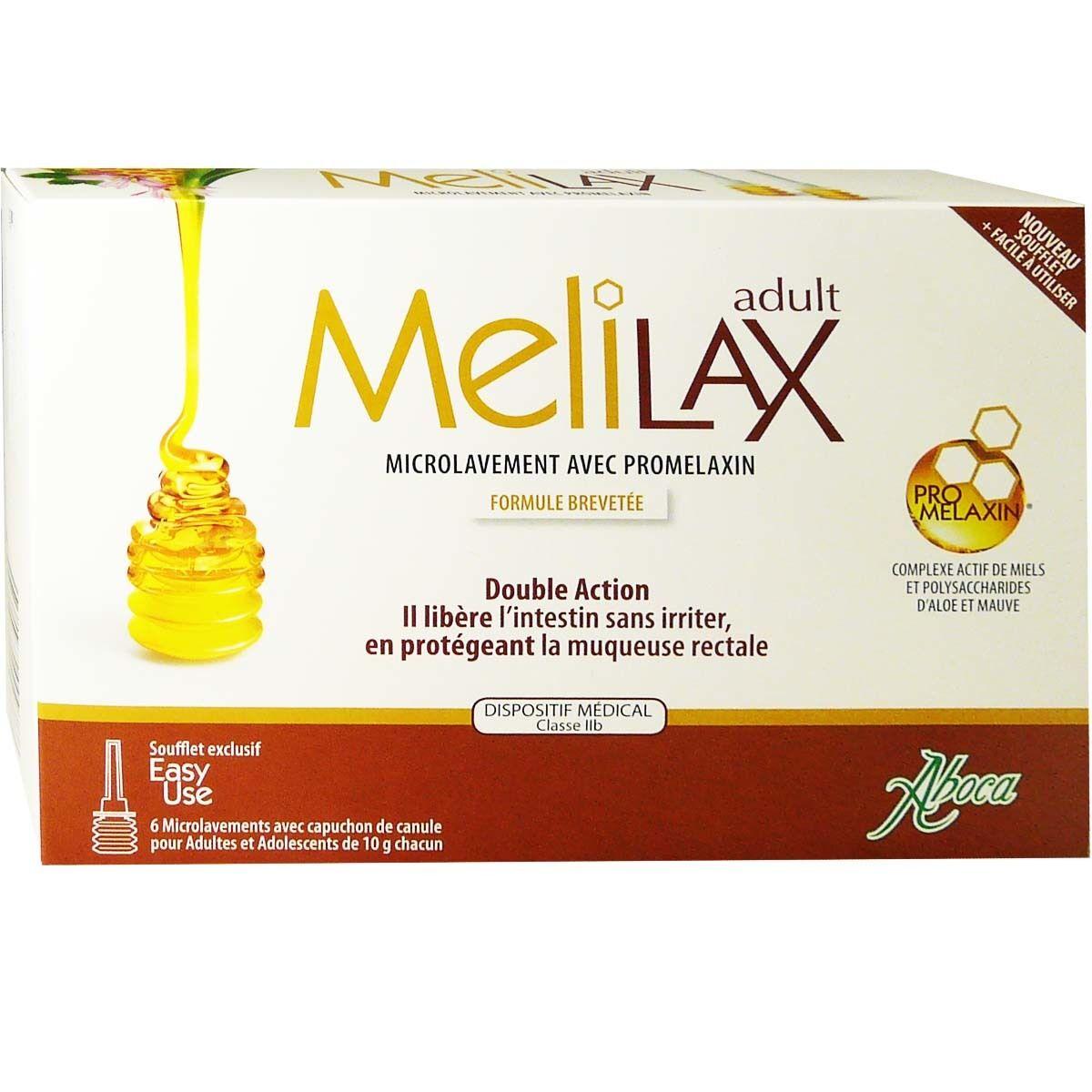 Aboca melilax adulte microlavement avec promelaxin 6 dosettes