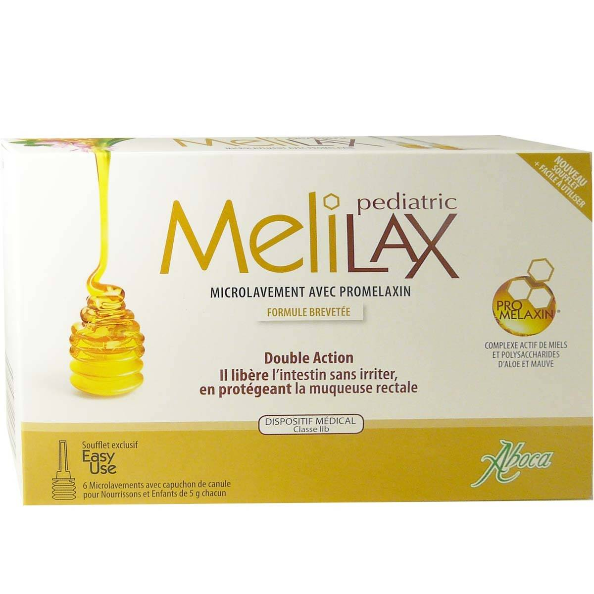 Aboca melilax pediatric microlavement avec promelaxin 6 dosettes