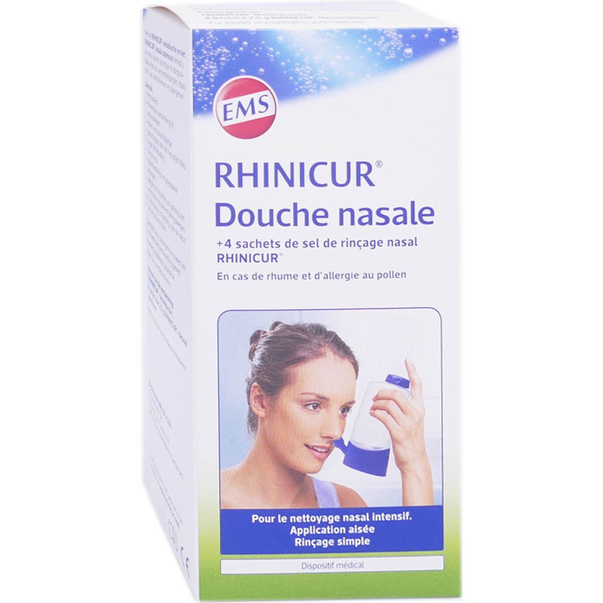 DIVERS Rhinicur douche nasale + 4 sachets de sel de rincage