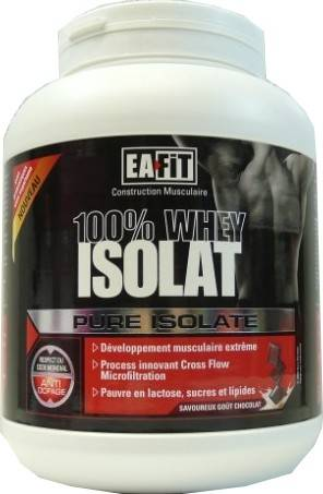 Eafit pure isolate 100% whey isolat chocolat 750g