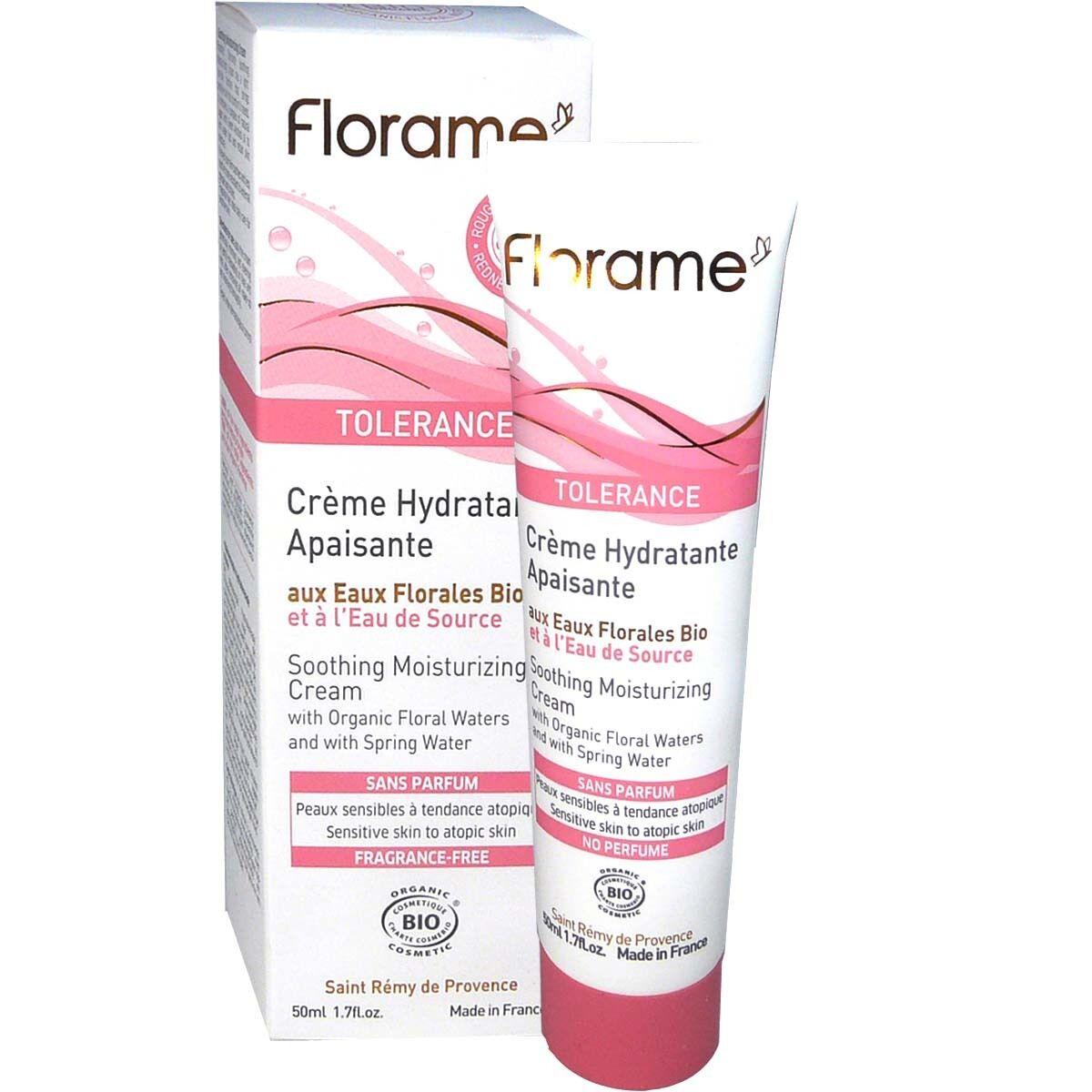 Florame tolerance creme hydratante apaisante bio 50ml
