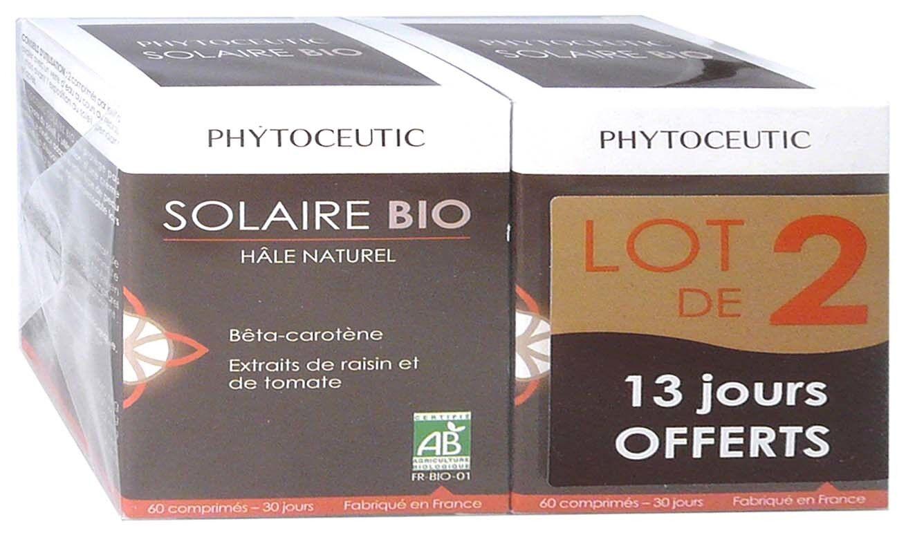 Phytoceutic solaire bio hale naturel 60 comprimes lot de 2