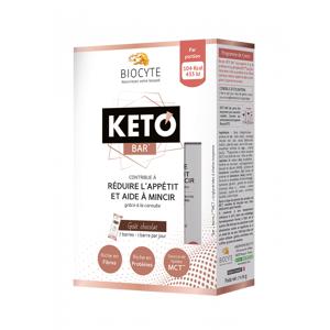 Biocyte keto bar 7 barres gout chocolat - Publicité