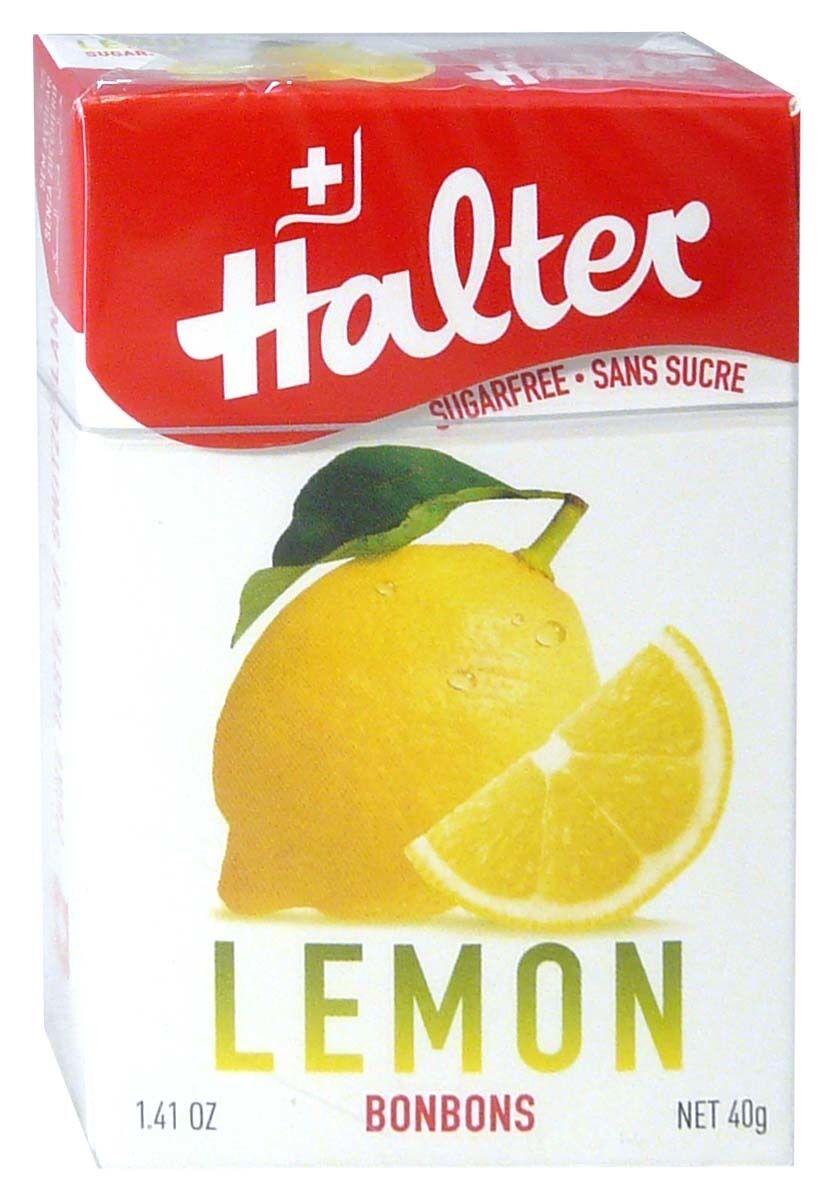 Bonbon halter sans sucre citron 40g