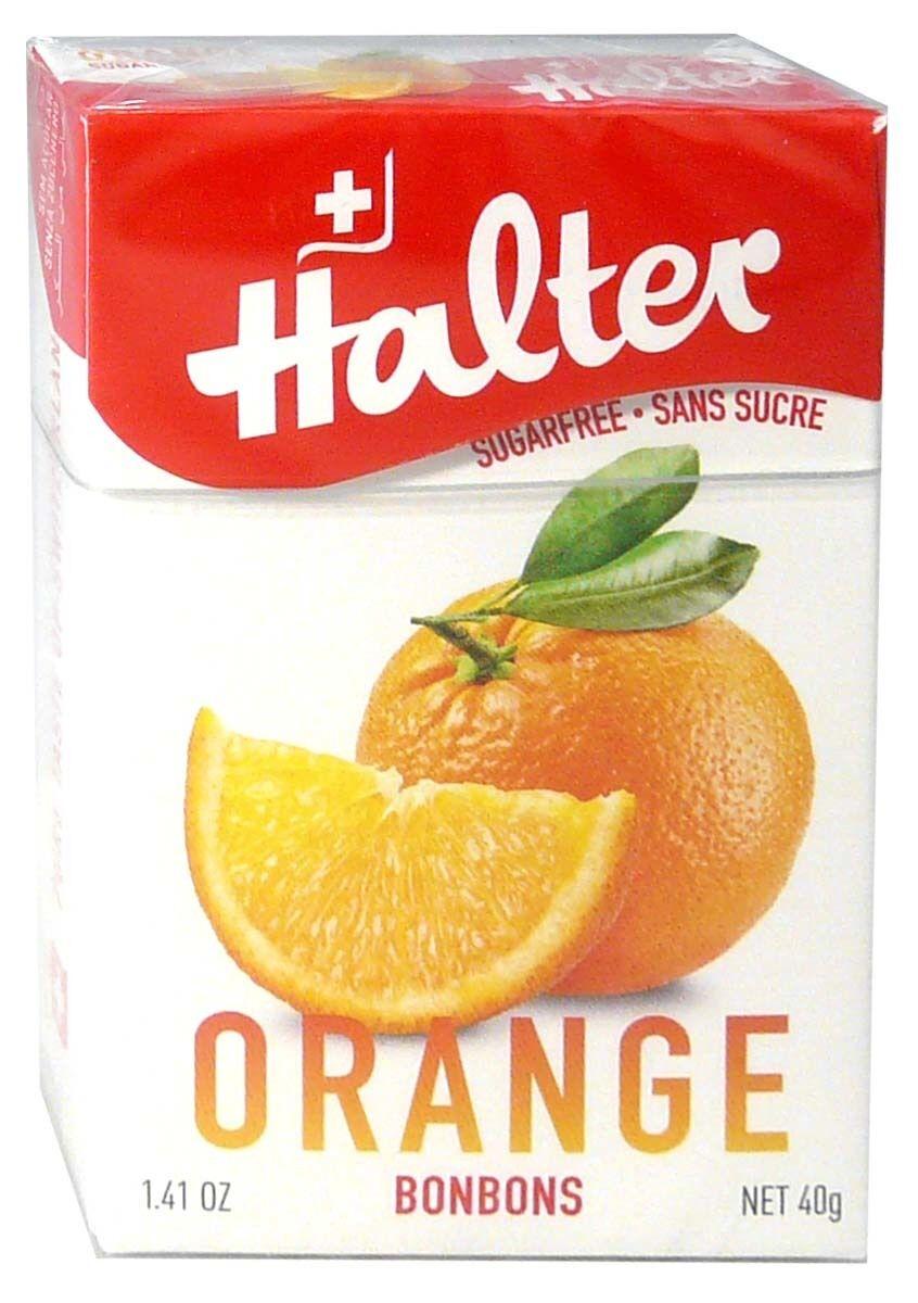 Bonbon halter sans sucre orange 40g