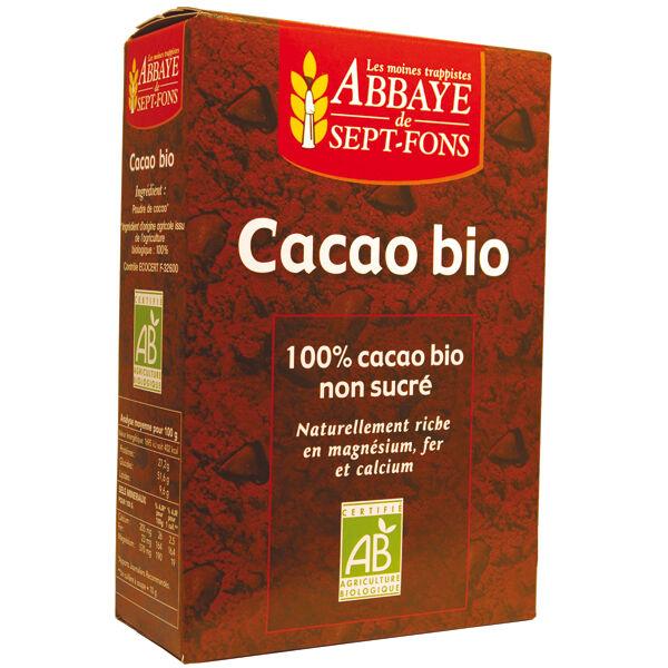 Abbaye de Sept-Fons Cacao 100% pur sans sucre ajouté Bio