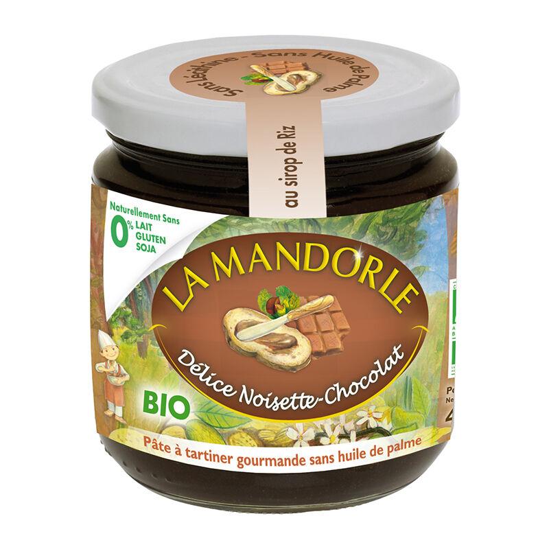 La Mandorle Pâte à tartiner Délice Noisettes chocolat bio