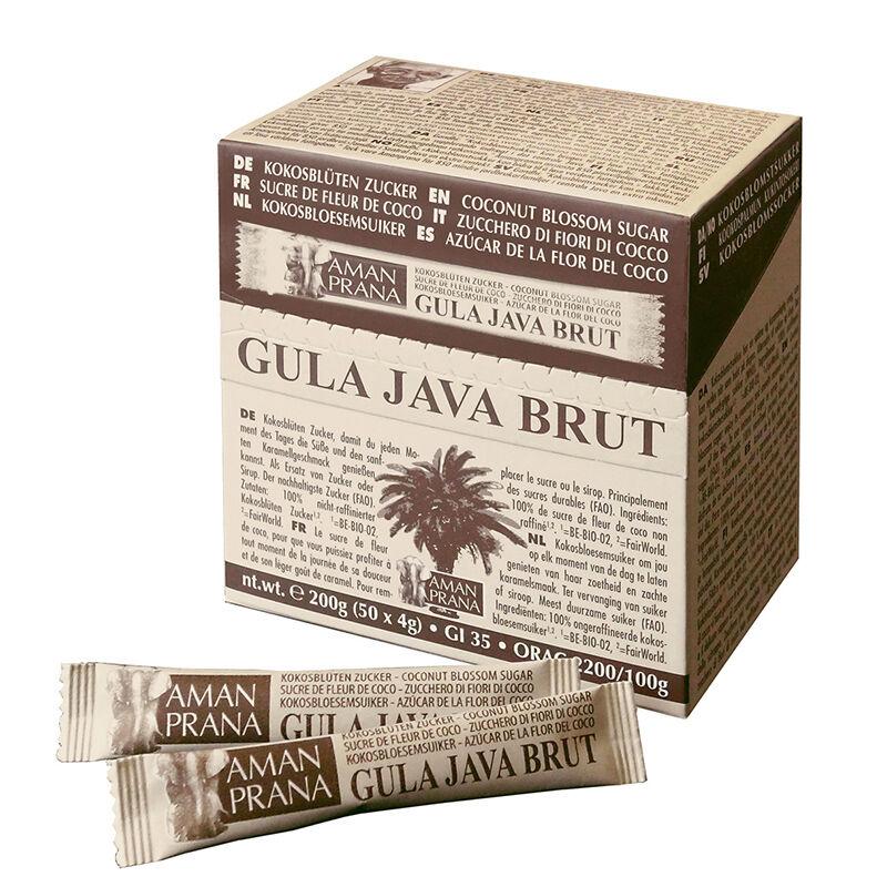 AmanPrana Gula java brut grain moyen - Sucre de coco en stick