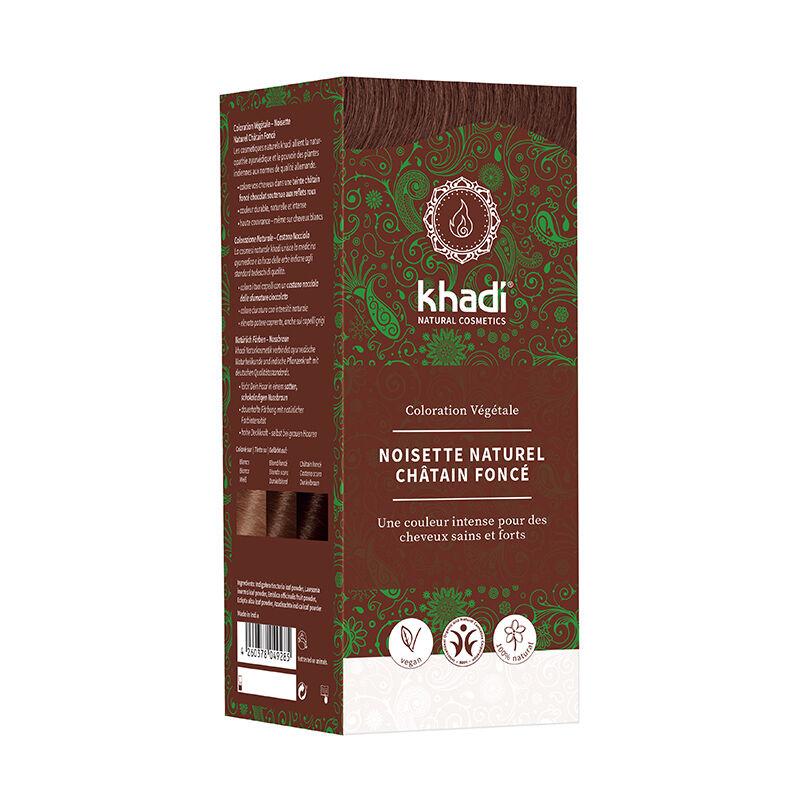 Khadi Teinture aux plantes ayurvédiques bio Noisette naturel